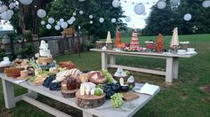 Dessert and cheese tables