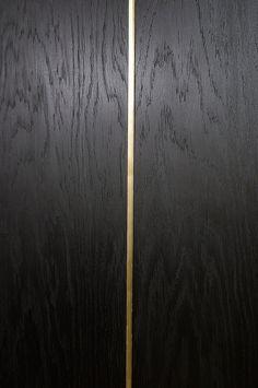 Aanzicht ingelegd hout op langshout (bovenkant oppervlak)