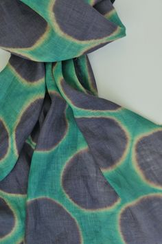 Linen scarf / Shibori / Carolina Varela / Chile