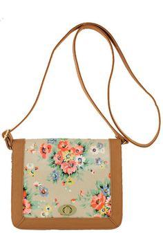 Floral Print Cross Body Bag