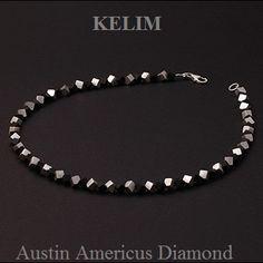 Black onyx and sterling silver necklace  at Austin Americus Diamond.   www.austindiamond.com