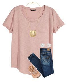"""""""{be like a pineapple, stand tall and wear a crown}"""" by preppy-southern-girl-1-2-3 ❤️ liked on Polyvore featuring H&M, American Eagle Outfitters, Tory Burch and Pearlyta"""