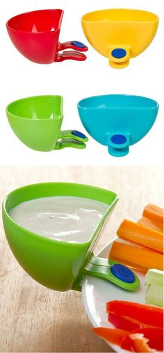 Incorporate multiple dips without taking up any extra plate gadgets YOU need in your life.great things here.For all around the house.Like the soap gadget too. Choses Cool, Just In Case, Just For You, Do It Yourself Organization, Take My Money, Gadgets And Gizmos, Fun Gadgets, Clever Gadgets, Awesome Gadgets