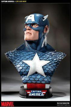Busto Marvel. Capitán América, 61 cms. Sideshow Collectibles
