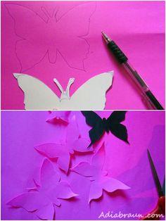 Pillangódekoráció a falra - Színes Ötletek