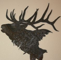 Majestic Elk Silhouette by fttdesign on Etsy, $60.00