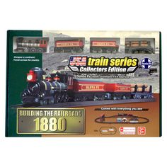 Locomotive Santa FE Steam 1880 American Batt Operated Train Set Easy Setup for sale online Railroad Companies, Making A Model, Standard Gauge, Great Hobbies, Model Train Layouts, Train Set, Steam Locomotive, Models, Classic Toys
