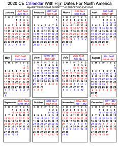 Printable Islamic 2020 Calendar Hijri Calendar Calendar
