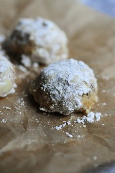 Snowball Cookies.  I loved these as a kid.  Will have to show Dev how to make them this year!