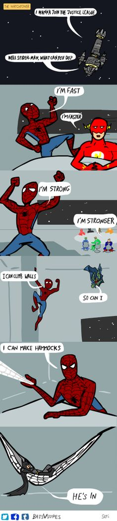Spider-man in the Justice League