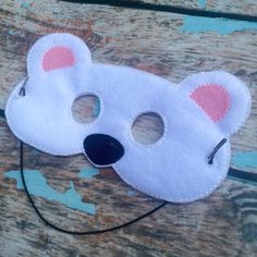 Felt woodland Polar Bear children's animal mask Party favor Pretend Play Costume for pretend Dress up church play school play by RosieKEmbroidery on Etsy https://www.etsy.com/listing/247749929/felt-woodland-polar-bear-childrens