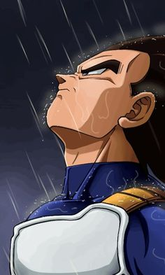Vegeta in the rain. Dragon Ball Gt, Dragon Ball Z Shirt, Poster Marvel, Son Goku, Foto Do Goku, Dragonball Super, Goku Super, Character Art