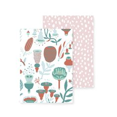 A set of two notebooks Designers: Botanica by Bjorn Rune Lie Tihku by Hannele Äijälä Size: with 36 white pages Eco-friendly inks, paper and printing Finnish Words, Stationary Items, Surface Pattern, Natural Materials, Runes, Paper Goods, Beautiful Words, Textile Design, Note Cards