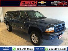 2003 Dodge Dakota Sport Blue $7,999 159376 miles 303-395-9830  #Dodge #Dakota #used #cars #EmichChevrolet #Denver #CO #tapcars