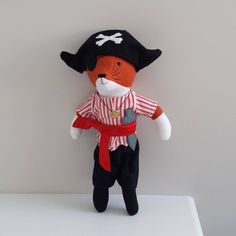 """6 Likes, 3 Comments - Saskia Harrison (@saskiasstudio) on Instagram: """"A customer request for a pirate fox named captain Foxbeard.  I can make you something special too.…"""""""