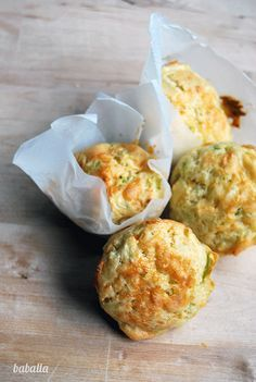 muffins salados de puerro y queso - we need to translate this recipe into…