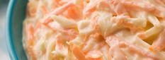 Easy coleslaw - white cabbage, carrot, fromage frais, sweetener, vinegar, salt