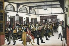 Lowry Ancoats Hospital Outpatients' Hall 1952 The Whitworth Art Gallery The University of Manchester © The estate of L. Lowry All rights reserved, DACS 2013 Salford, Banksy, University Of Manchester, Manchester Art, Tate Britain, Spencer, English Artists, Le Havre, Portraits