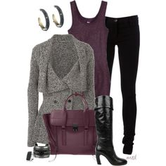 """Tweed Cardigan"" by michelled2711 on Polyvore"