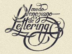 """Pedro Veneziano - """"Lettering"""""""