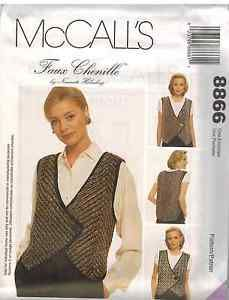 8866-Vintage-McCalls-SEWING-Pattern-Ladies-Faux-Chenille-Vest-Waistcoat-Holmberg