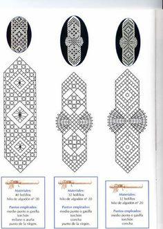 marcapáginas. Lovely patterns.