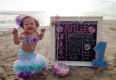 Mermaid theme - first birthday. Outfit by ig: @avileebabyco!