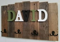 Many people like to mark their territory on things that they like the most or just to define their belongings. A pallet wooden board hanging on the wall, with alphabets of your name definitely mark your territory .