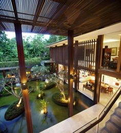 Luxe Tropical Design with fab Planting Water Feature Landscaping