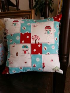 I am very pleased with patchwork cushion