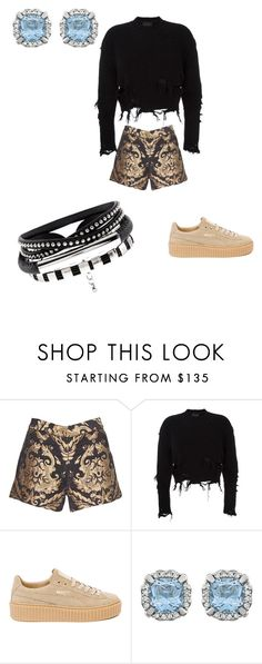 """black"" by adellolita on Polyvore featuring Alice + Olivia, adidas Originals and Puma"