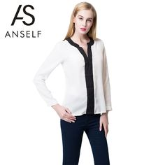 Recently, a new fashion women #chiffonblouse caught my eyes. it is made from delicate polyester, soft and breathable to wear. Long sleeve styling with buttoned cuffs. Contrast V-neckline, sexy and attractive.