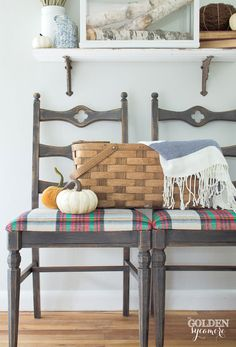 Fall plaid chair mak