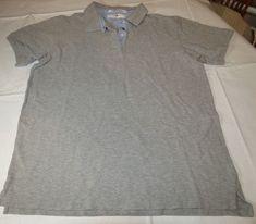 Tommy Hilfiger Golf Mens short sleeve polo shirt L cotton grey heather GUC <> #TommyHilfigerGolf #PoloRugby