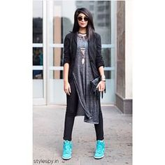 This perfect way to do sporty chic. | 23 Street Style Photos That Prove India's Fashion Game Is On-Point