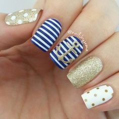 nautical gold and navy