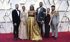 Wakanda forever: The Black Panther cast poses on Oscars red carpet Best Picture Nominees, Letitia Wright, Michael B Jordan, Trending Photos, Strapless Dress Formal, Formal Dresses, Bridesmaid Dresses, Wedding Dresses, Gucci Black
