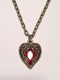 Vintage medallion kette ornament herz nostalgie steampunk locket rose silbern