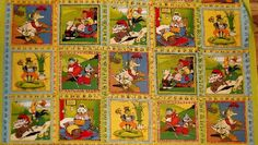 1 Fabric Panel - Moda Mother Goose Nursery Rhymes - Quilt Wallhanging - 3 Free Patterns