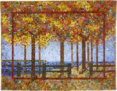 frame in a frame.  Use of small blocks to create tree fullness