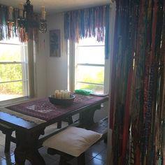 Boho Beauty Bohemian hippie handmade curtains Shipping available outside Rag Curtains, Rainbow Curtains, Bohemian Curtains, Shabby Chic Curtains, Outdoor Curtains, Bohemian Decor, Bohemian Bathroom, Rideaux Boho, Rideaux Shabby Chic