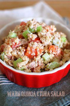 Warm Quinoa & Tuna Salad...I will be using chicken