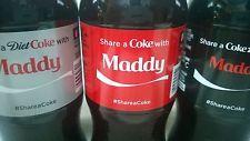 Share a Coke With Maddy Complete Set, Coke, Diet Coke, Coke Zero 20oz Bottle