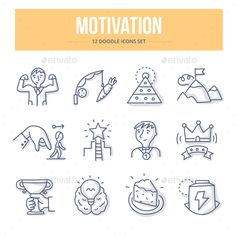 Illustration about Doodle line icons of business and personal motivation, productivity and success. Illustration of successful, performance, idea - 85907055 Visual Note Taking, Easy Doodle Art, How To Motivate Employees, Doodle Icon, Simple Doodles, Sketch Notes, Doodle Designs, Business Icon, Book Design