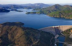 Shasta Lake, California - Can't believe I skied the entire length from the dam to Antlers when I was 17! Miss our summers there.