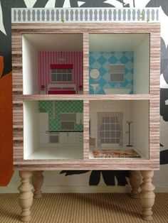 Dollhouse made of Ikea expedit bookcase