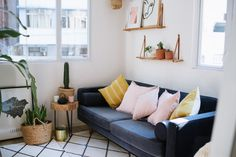 Small space living is common but it doesn't mean you have to sacrifice style for it! Here I share my tips on how to make your tiny living space look huge.