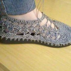 Zapatos a crochet