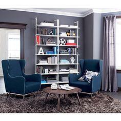 3.14 white bookcase in storage | CB2