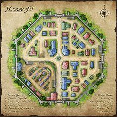 [Art] Hammerfel - The town map : DnD